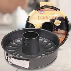 TORTIERA APRIBILE tradition con tubo per ciambellone