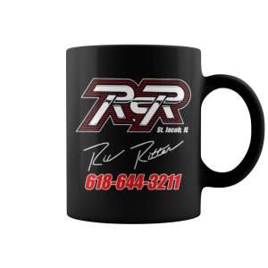 Black RCR Ric Ritter Signature Mug