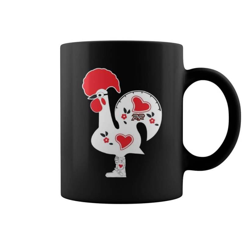 Black Lucky Racing Rooster Mug