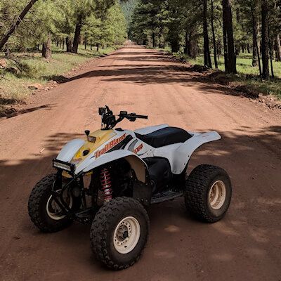 250 Trailblazer Derek Johnston and Polaris Trailblazer and Trail Boss 250 FB group