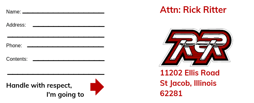 Ritter Cycle Racing Inc Shipping Label