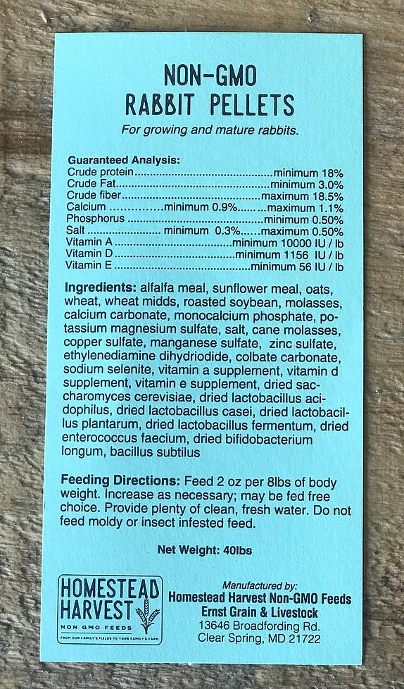 Non-GMO Rabbit Pellet Ingredients