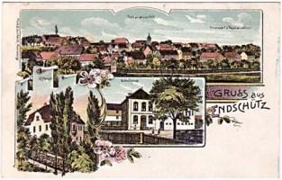 Postkarte mit Rittergut aus dem Jahre 1906