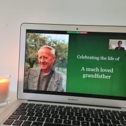 Online funeral service led by Rosalie Kuyvenhoven, London based celebrant