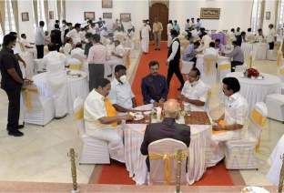 O.Paneerselvam ith the new Chief Minister Stalin