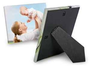 Professionally printed canvas with self standing easel for your desk or mantel