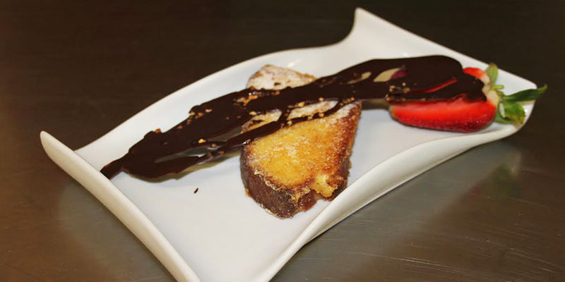 Dessert Le Riva restaurant en Bourgogne