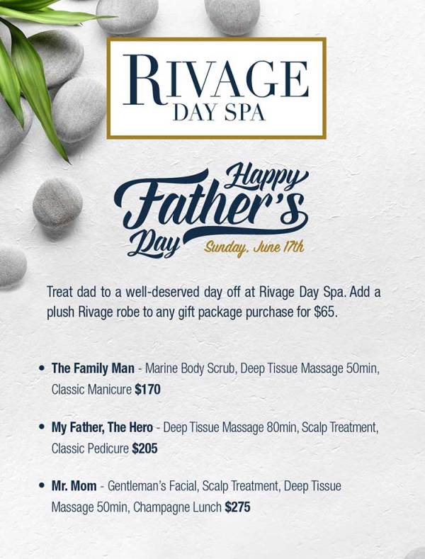 Father's Day Specials – Rivage Day Spa