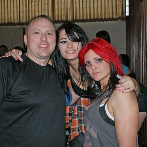 Me with Brittani and Saraya Knight!
