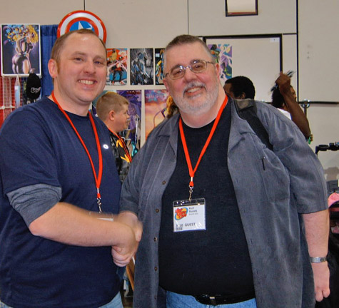 Me and Kurt Busiek. Brilliant writer of Astro City, Avengers and a whole lot more.