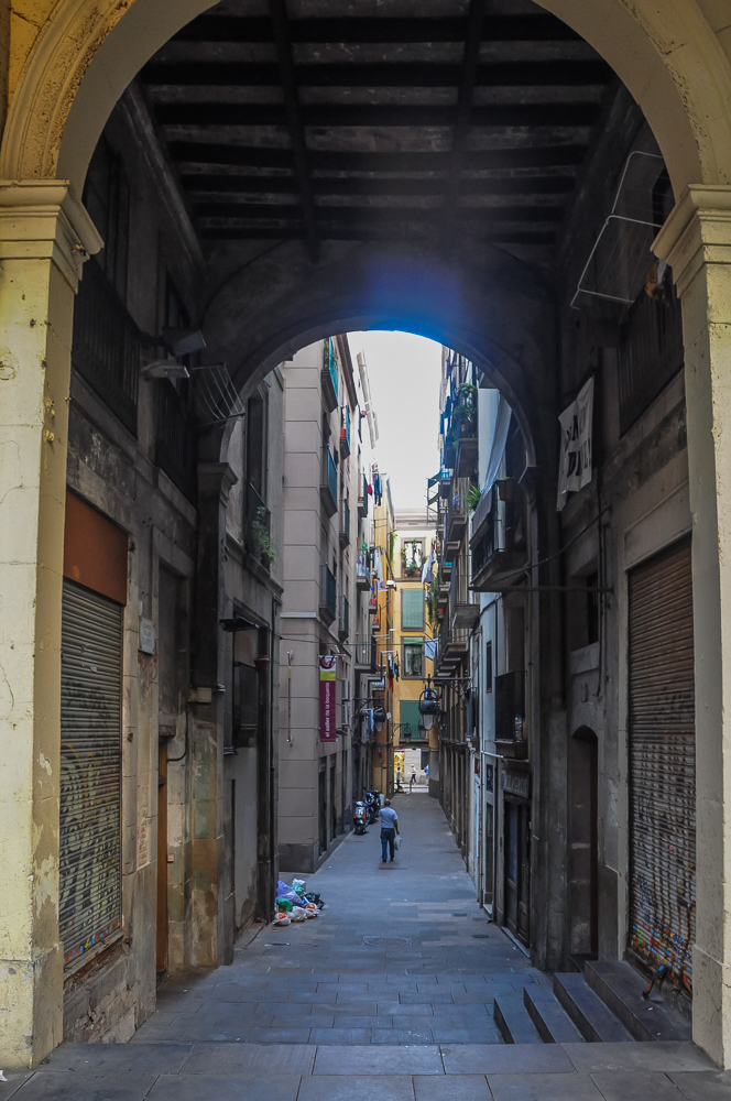 Alleyway In Barcelona, Spain