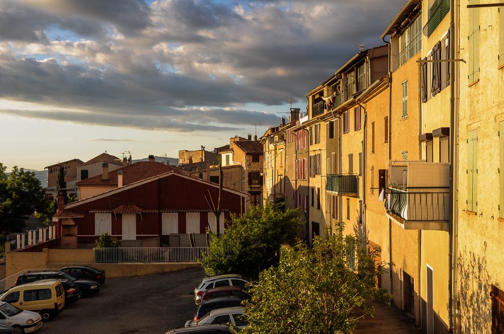 Houses In France Sunset