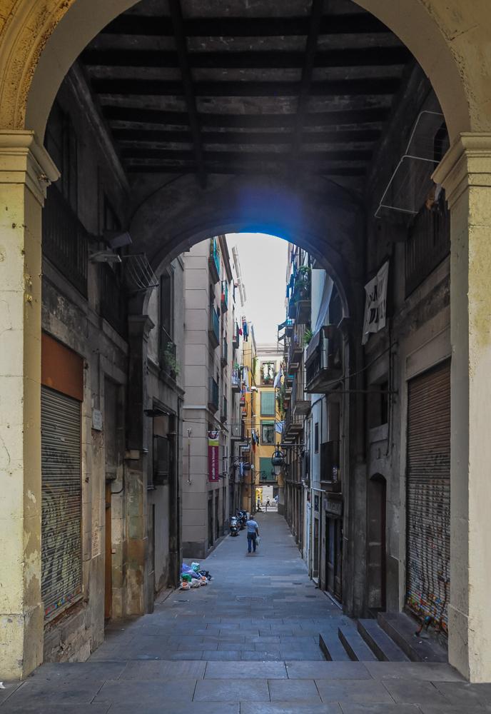 Barcelona Spain Alleyway Of Stories