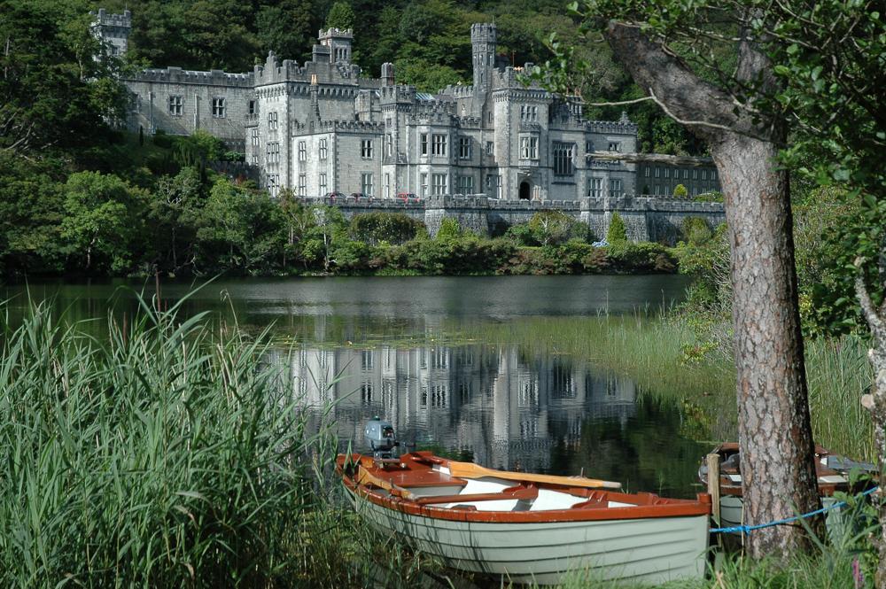 Ireland Kylemore Abbey Rowboat
