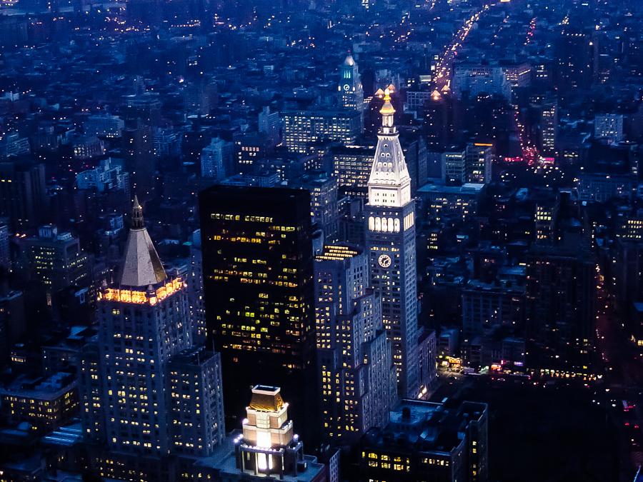 New York City, Manhattan, City Scape At Night