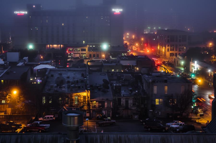 Blade Runner Austin In Fog - Lights Amazing