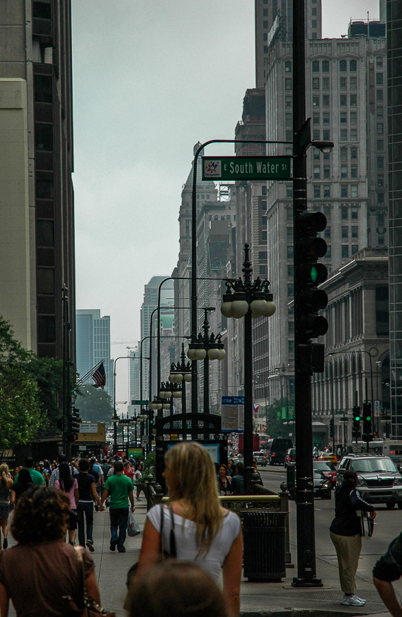 Chicago, South Water Street, Urban City Scape