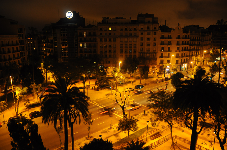 Barcelona On Fire - Lights - NIght - City At Night