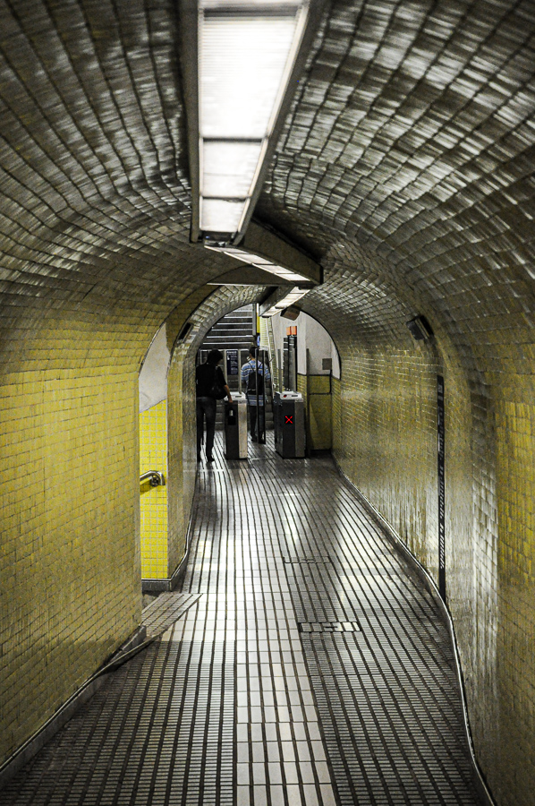 Subway - Strange tiled tunnel