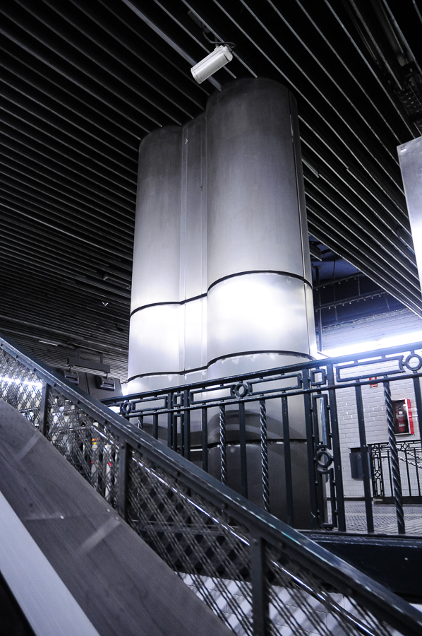 Subway Stainless Steel Columns - Stylized