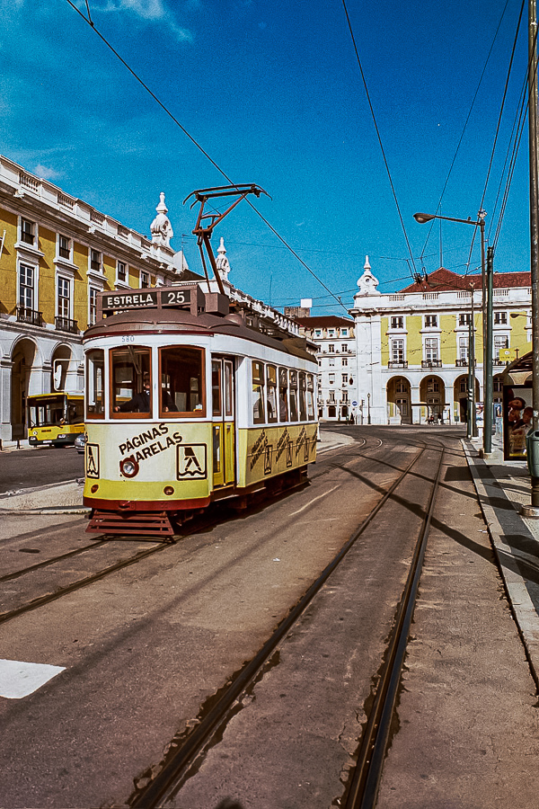 Lisbon Portugal Trolley Yellow