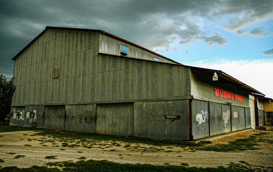 Roadside Relics - Storm Warehouse Red Neon Sign