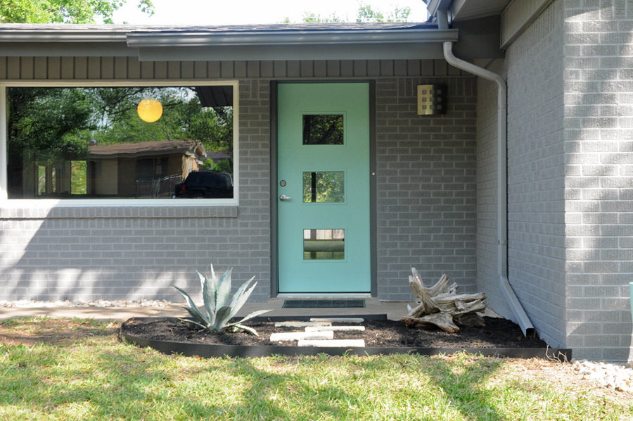 Mid-century Modern Turquoise Door Light Fixture