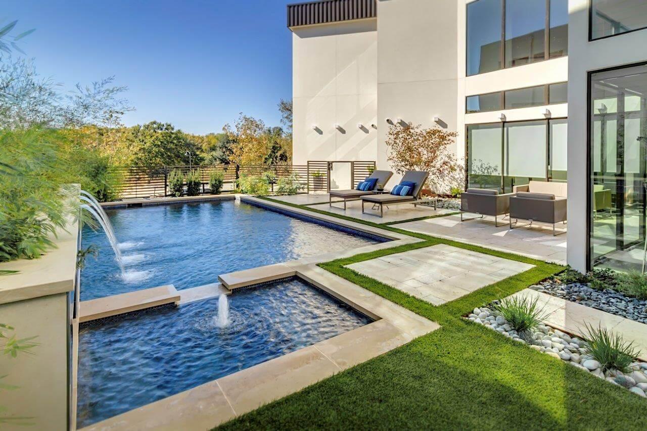 sleek and modern pool design dallas