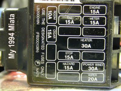 1996 mazda miata fuse box diagram schematics wiring diagrams u2022 rh orwellvets co 1990 mx5 fuse box 1990 miata interior fuse box location