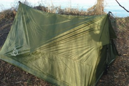Trekking pole backpacking tent
