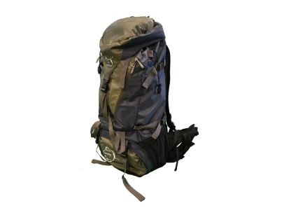 Backpacking pack side view