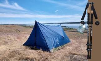 2 person trekking pole tent with trekking poles