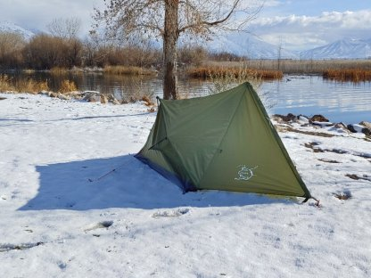 trekker tent 2V with rain fly.