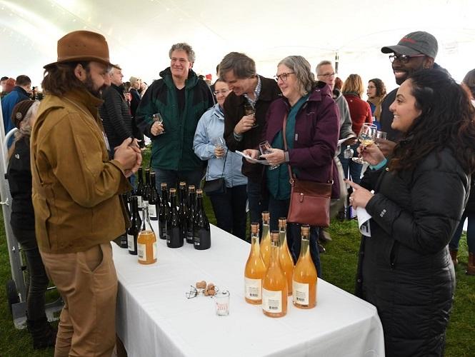Cider tasting at the Cider Salon, Unity Park Turners Falls