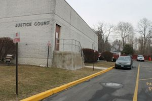 Entrance to prisoner holding area of the justice court. (RiverheadLOCAL photo by Denise Civiletti)