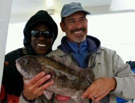 Blackfish caught on the Peconic Star. Courtesy photo:  Dennis Tinnin