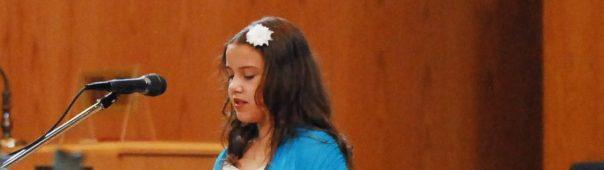Flower girl Singing