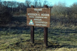 """Woodson K. Woods Sign"" Woodson K. Woods Conservation Area Is considered one of the most beautiful state owned properties in Missouri."