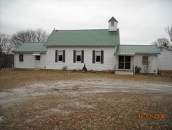 The original Calvey Baptist Church was founded by Rev. Lewis Williams. This is the present church building in the Robertsville-Catawissa area of southern Franklin County.