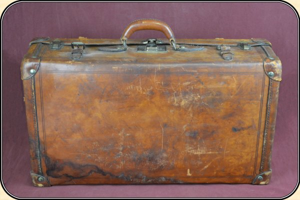z-Sold Vintage Big Leather Suitcase or Luggage