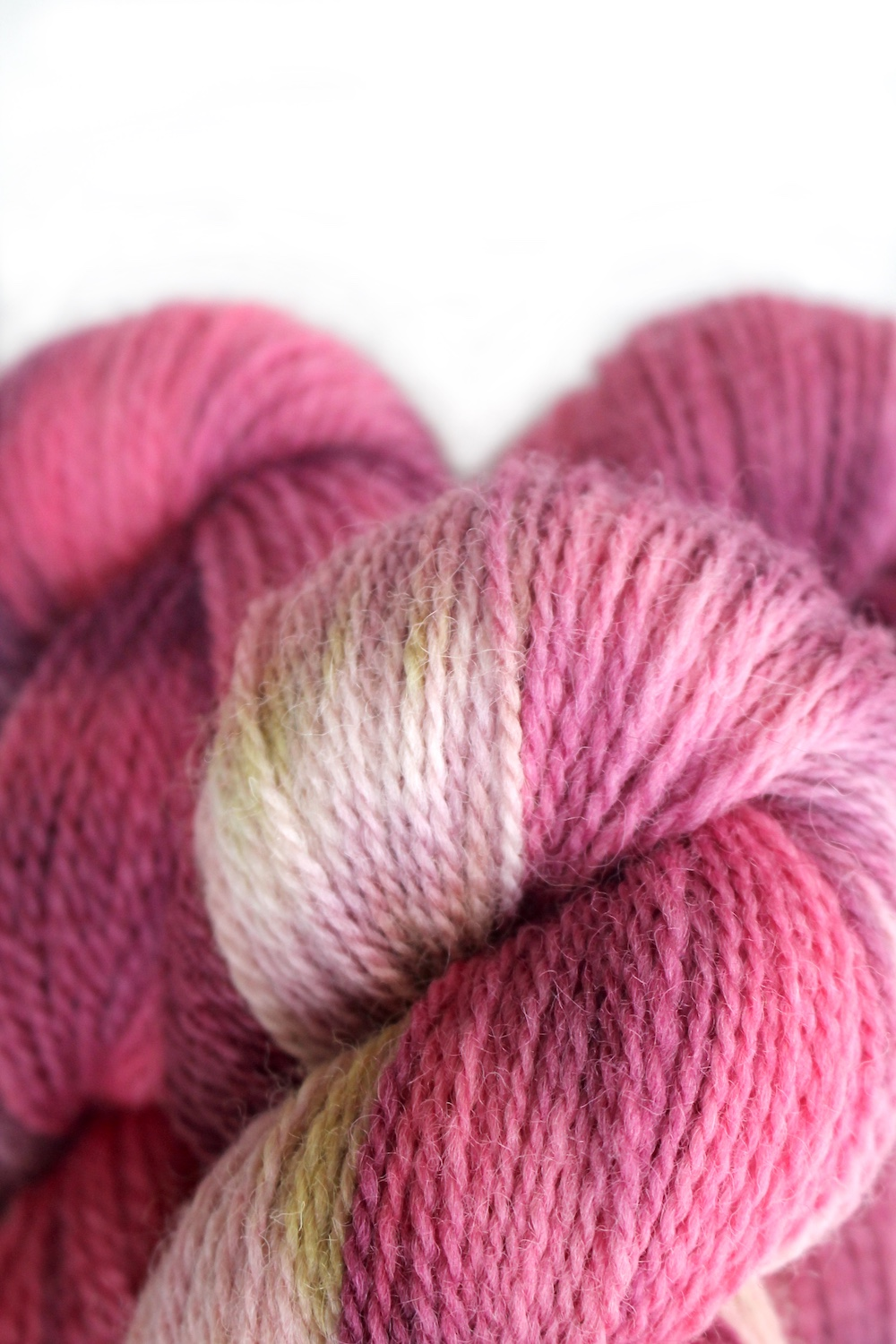 Close of up Appledore in the Dragon Fruit Colourway