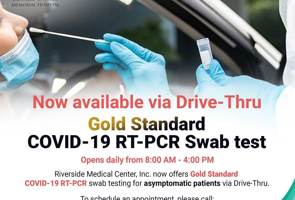 COVID-19 RT-PCR swab test via Drive-Thru