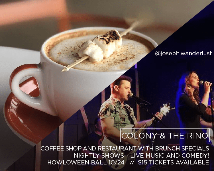 Fancy S'Mores coffee and bands performing at Colony and The RINO in North Kansas City
