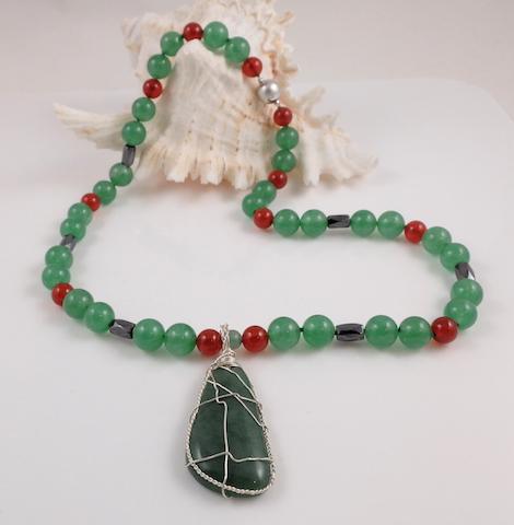 Jade & Carnellian Necklace