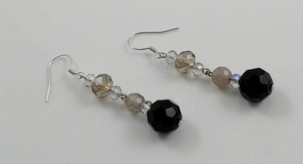 Moonstone & Crystal Earrings