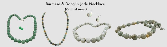 Jade necklace slide