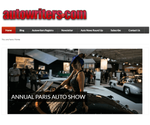 Screenshot of Autowriters.com homepage