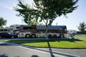Motorhome with awning out