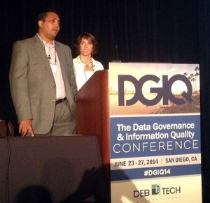 Kelle O'Neal and Raman Parthasarathy at DGIQ 2014