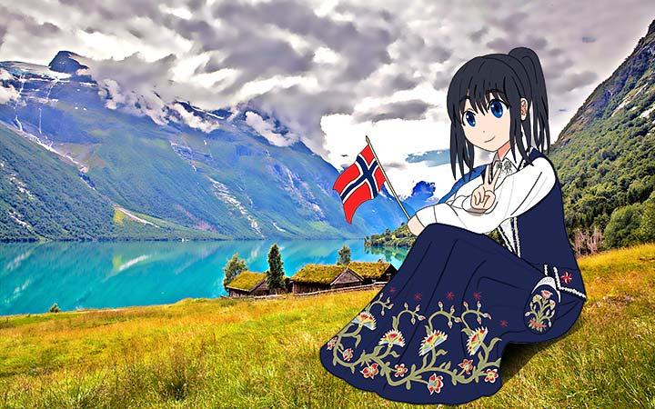 ukens bildekollasj - nasjonalromantikk, manga i bunad